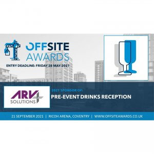 ARV Solutions sponsor Offsite awards 2021 - Drinks reception